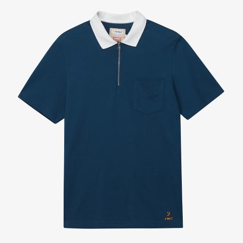 [FARAH]Lubbock Plain Polo (BLU)