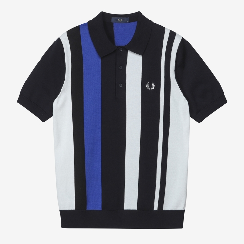 [Authentic] Bold Stripe Knitted Shirt(608)