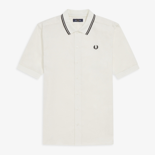 [Authentic] Flat Knit Collar Polo Shirt(129)