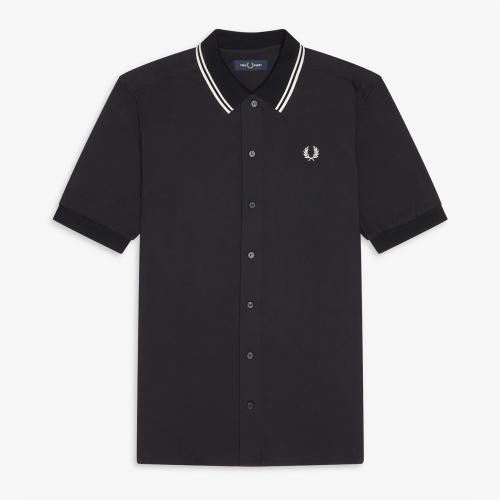 [Authentic] Flat Knit Collar Polo Shirt(102)