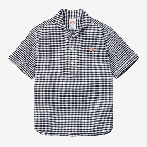 Round Collar SS Shirts (BLK)