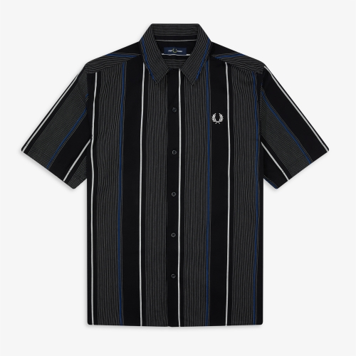 [Authentic] Vertical Stripe Revere Collar Shirt(102)