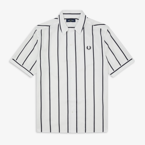 [Authentic] Striped Revere Collar Shirt(129)