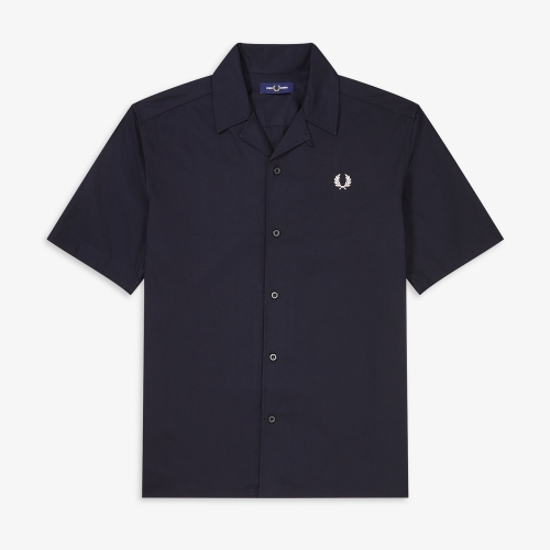 [Authentic] Embroidered Revere Collar Shirt(608)