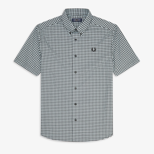 [Authentic] 2 Colour Gingham Shirt(105)