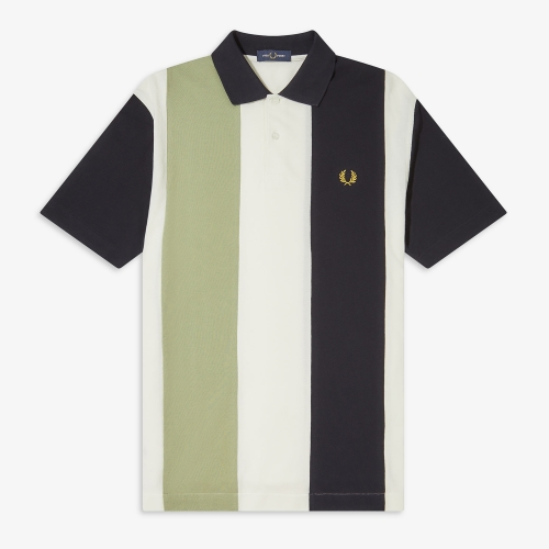 [Authentic] Bold Stripe Polo Shirt(129)
