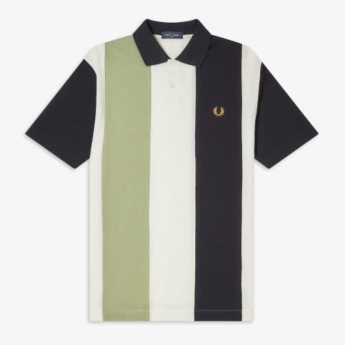 [Authentic] Bold Stripe Polo Shirt(129)