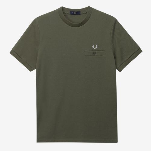[Authentic] Pocket Detail Pique Shirt(B57)