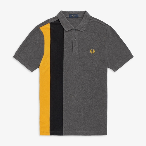 [Authentic] Side Panel Stripe Polo Shirt (829)