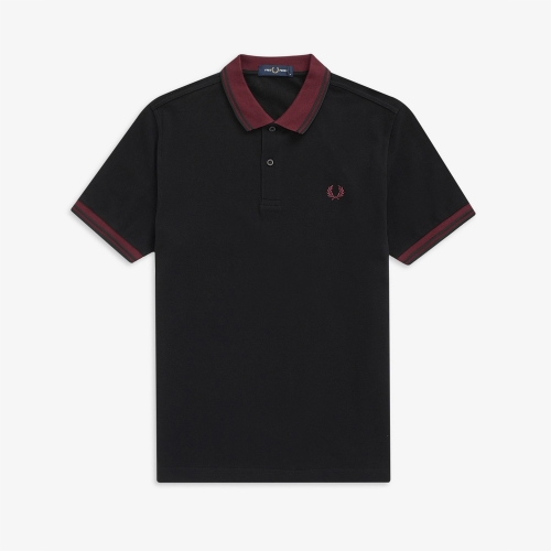 [Authentic] Contrast Rib Polo Shirt (198)