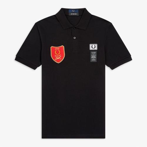 [Art Comes First] Sheild Patch Pique Shirt (102)