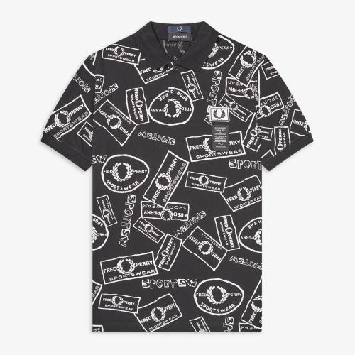 [Art Comes First] Printed Pique Polo Shirt (102)
