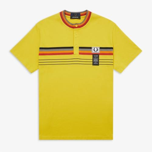 [Art Comes First] Striped Henley Shirt (A62)