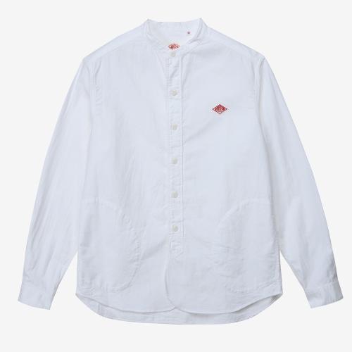 Band Collar Shirts Oxford (WHT)
