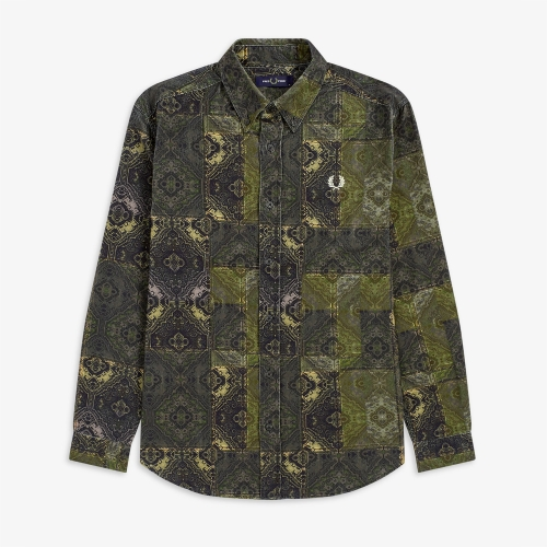[Authentic] Printed Cord Shirt (102)