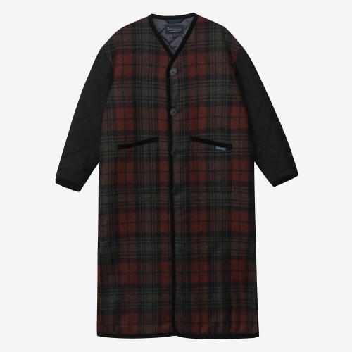 Tartan Long Coat Ladies (RED)