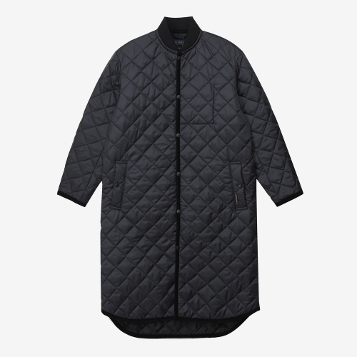 Lavenster Long Bomber Jacket (BLK)