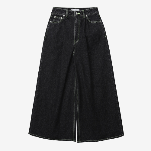 WideDenim Pants (BLK)