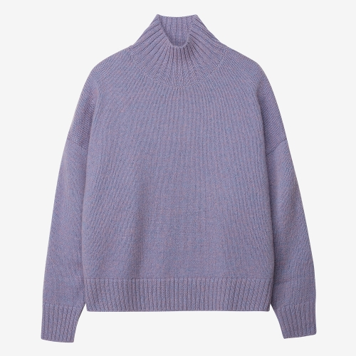 Fontana Slit Turtleneck Sweater (PUR)