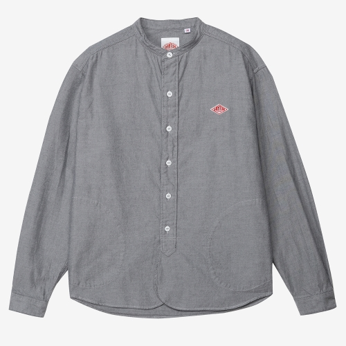 Band Collar Shirts Cotton (GRY)