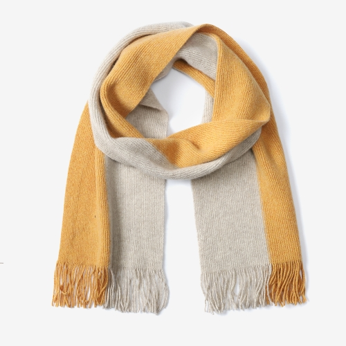 Half Half Two Colour Scarf (BEG)