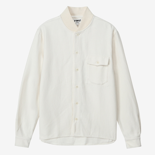 Delinquents Rib Collar Shirt (WHT)