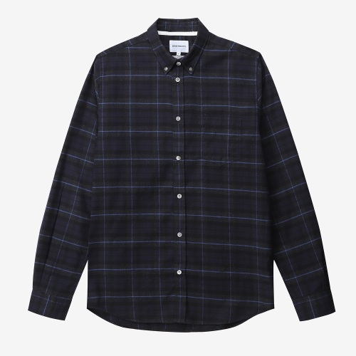 Anton Brushed Flannel Checked (NVY) ANPM2030535-NVY
