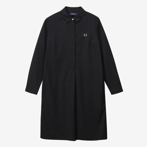 플리츠백 셔츠 드레스 (J07)