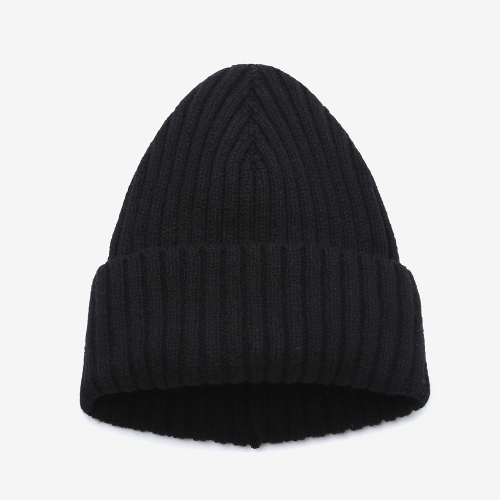 2/2 Ribbed Stitch Hat (BLK)