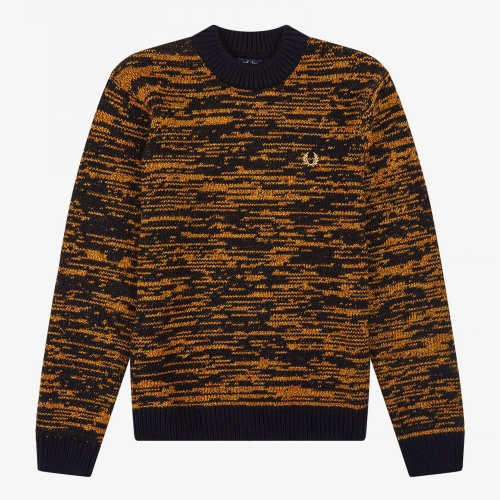 [Authentic] Space Dye Crew Neck Knit(904)