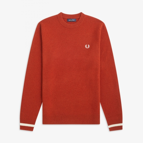 [Authentic] Tipped Crew Neck Knit(946)