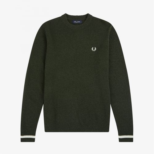 [Authentic] Tipped Crew Neck Knit(408)