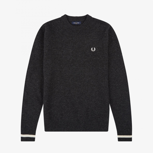 [Authentic] Tipped Crew Neck Knit(948)