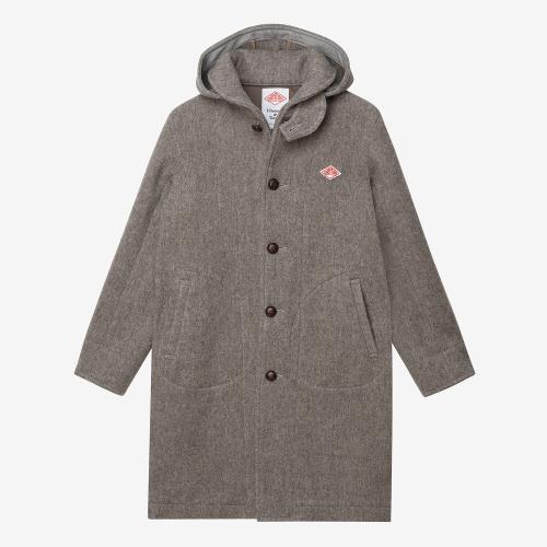 Round Collar Hoodie Coat (BEG)