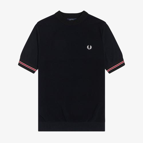 [Authentic] 팁드 커프 니트 티셔츠 (608)