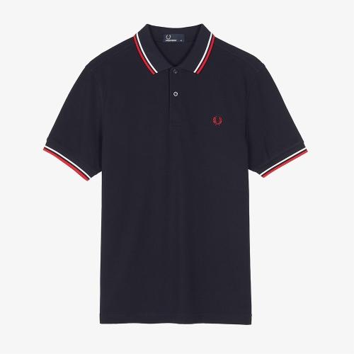[M3600] 트윈 팁 프레드 페리 셔츠 (471)