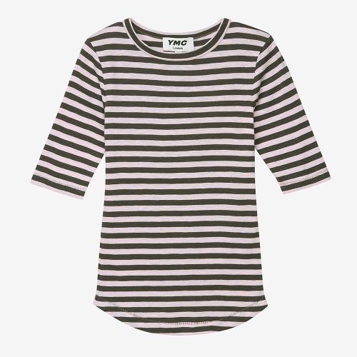 샬롯 스트라이프 S/S 티셔츠 (OLV)