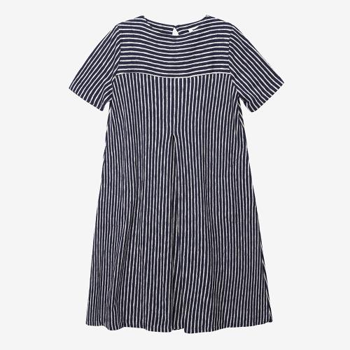 빅 크루즈 플리츠 드레스 (NVY)