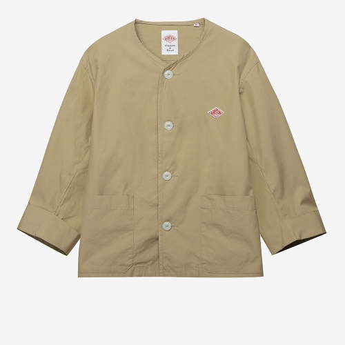 No Collar Jacket (TAN)