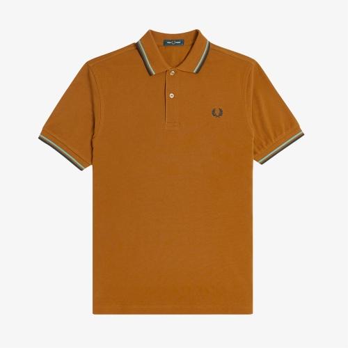 [M3600] 트윈 팁 프레드 페리 셔츠 (644)