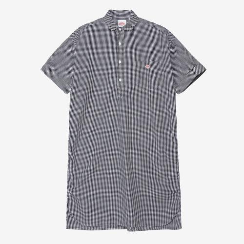Shirt Dress Plaid (BLK)