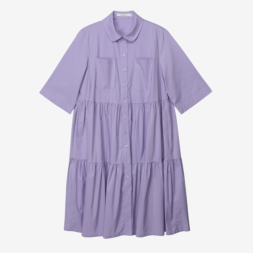 Lavender Tiered Shirtdress (PUR)
