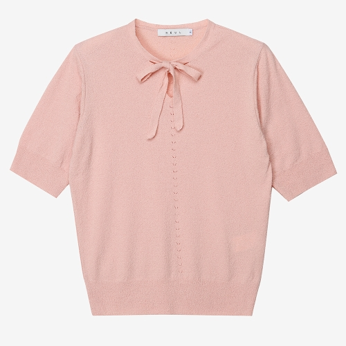 Sofia Tie Neck Sweater (PNK)