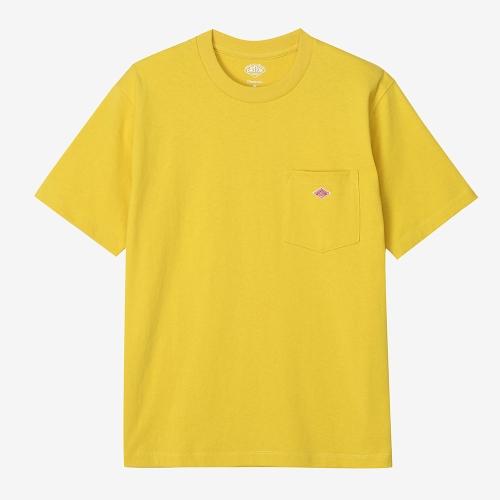 Round Pocket T-Shirts Solid (YEL)