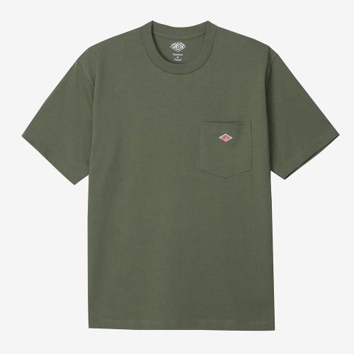 Round Pocket T-Shirts Solid (KHA)