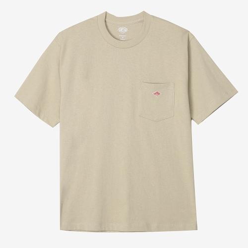 Round Pocket T-Shirts Solid (BEG)