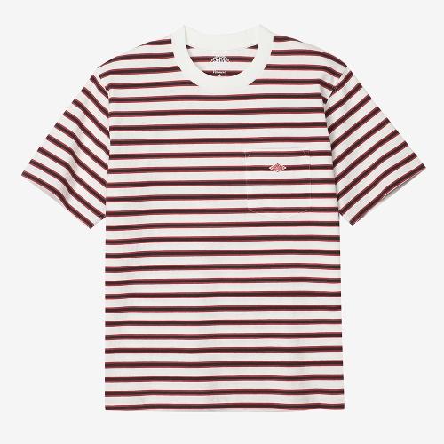 Round Pocket T-Shirts Stripe (NVY)