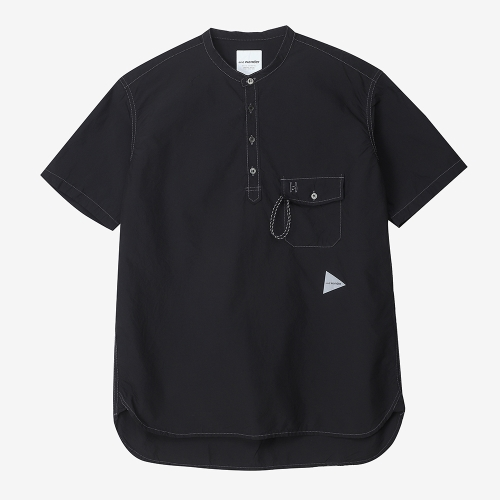 Cordura Typewriter Short Sleeve Over Shirts (BLK)
