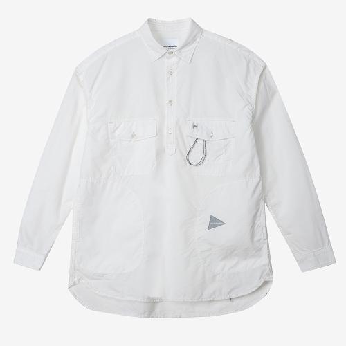 Cordura Typewriter Long Sleeve Over Shirts (WHT)