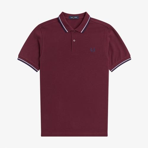 [M3600] 트윈 팁 프레드페리 셔츠 (D23)